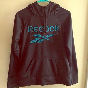 Reebok Crew Neck Black and Blue Hoodie